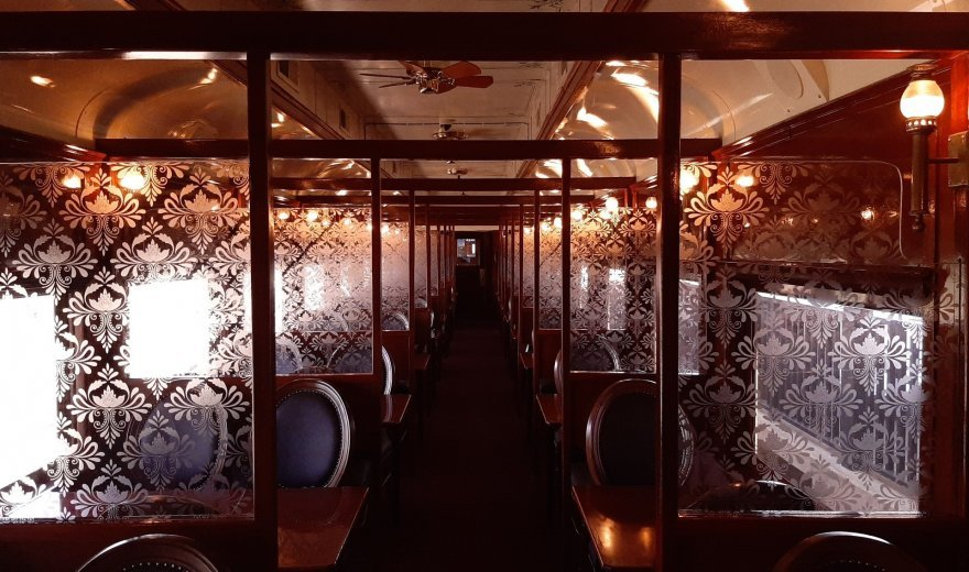 inside of the wine train