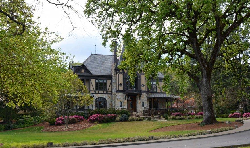 Castle like estate amongst trees