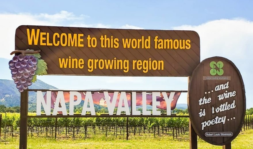 outdoor wooden napa valley sign