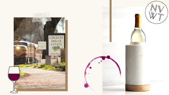 A wine-related collage.