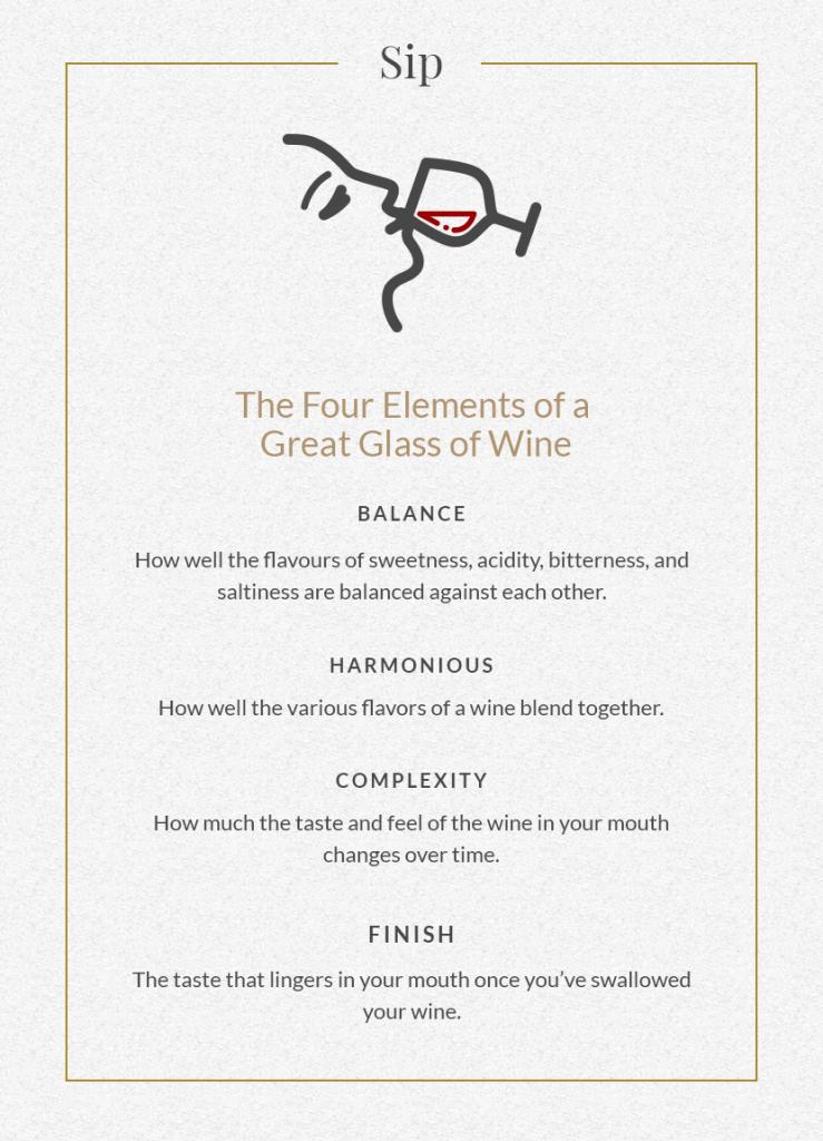 Wine tasting step 3: sip